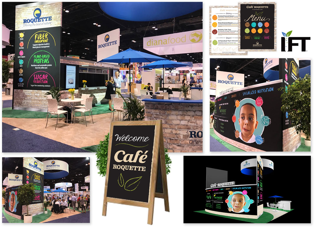 Roquette trade show display