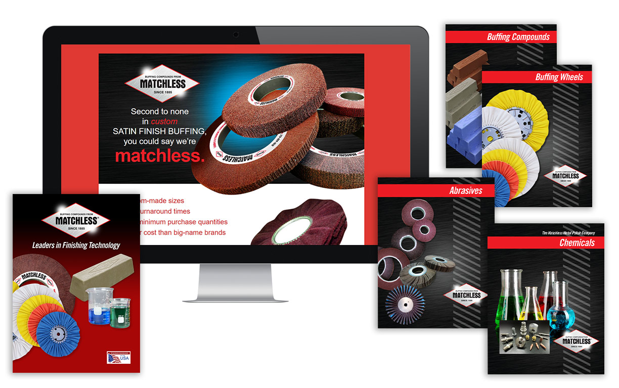 Matchless Metal branding across web and print